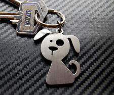 DOG Doggy Puppy Canine Cute Novelty Gift Keyring Keychain Key Bespoke Stainless