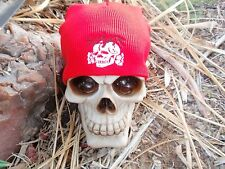 slayer death head red embroided beanie 2 color slatanic wehrmacht 666