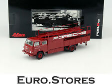 Schuco MAN 635 Porsche Racing Transporter Red Model Car 1:43 Genuine New