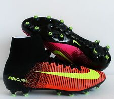 NIKE MERCURIAL SUPERFLY V AG-PRO TOTAL CRIMSON-VOLT-BLACK SZ 11.5 [831955-8