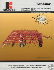 Farm Implement Brochure - Krause - 6300 series Landstar Seedbed Finisher (F2680)
