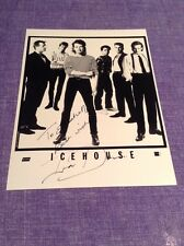 IVA DAVIES ICEHOUSE FLOWERS SIGNED VINTAGE ORIGINAL PROMO PHOTO REGULAR RECORDS