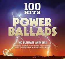 100 HITS-POWER BALLADS NEUE DIGIPACK EDITION (BOSTON, STEPPENWOLF,...) 5 CD NEU