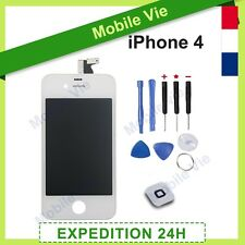 TACTILE GLASS IPHONE 4 WHITE + RETINA ORIGINAL FRAMED LCD SCREEN + NOTICE