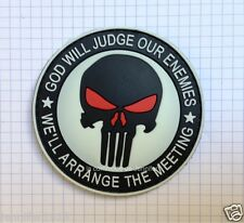 moral patch velcro pvc airsoft scratch Punisher God Will Judge Our Enemies 059