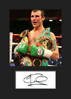 JOE CALZAGHE - Signed Photo A5 Mounted Print - FREE DELIVERY