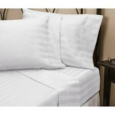 1000 Thread Count 100% Egyptian Cotton 1000 TC Bed Sheet Set TWIN White Stripe