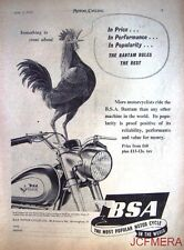 1954 Motor Cycle ADVERT - B.S.A. 'Bantam' (from £68 + £13-12s tax) Print AD