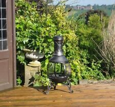 Large Cast Iron Steel Outdoor Garden Patio Heater Chimnea BBQ Chimney Chiminea