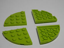 LEGO Set of 4 New Round Corner Plates 4x4 Lime Green Star Wars Batman Scooby-Doo