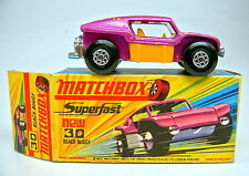 "Matchbox SF nº 30b Beach Buggy lila metalizado, espesor de tubos de escape TOP ""i"" box"