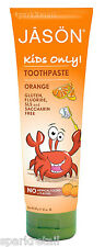 Jason KIDS ONLY Natural Orange Sugar-Free Non Fluoride Childs TOOTHPASTE 119g