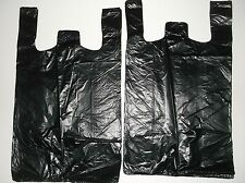 420 ct PLASTIC SHOPPING BAGS ,T SHIRT TYPE, GROCERY BLACK MEDIUM 1/8 SIZE BAGS.
