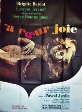 """""""A COEUR JOIE"""" Affiche originale (Brigitte BARDOT / Laurent TERZIEFF)"""