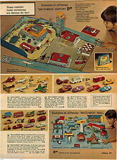 1974 ADVERT 2 PG Matchbox Airport Planes Mall Monte Carlo Rev N Roar Launcher