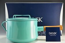 Dansk Kobenstyle 3 Qt Quart Saucepan with Lid TEAL NEW In Box 2nd