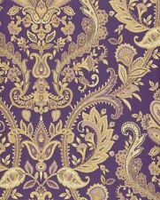 Gold and Purple Paisley Wallpaper MD29427 Double Roll FREE SHIPPING