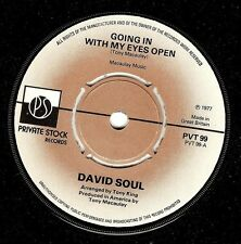 DAVID SOUL Going In With My Eyes Open Vinyl 7 Inch Private Stock PVT 99 1977 EX