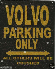VOLVO PARKING METAL SIGN RUSTIC VINTAGE STYLE 8x10in 20x25cm garage