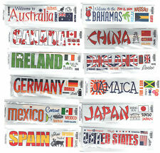 Reminisce TRAVEL RUB-ONS (12) DIFFERENT COUNTRIES scrapbooking CLOSE-OUT SALE!
