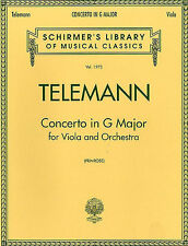 George Philipp Telemann Concerto In G Major For Viola Learn to Play Music Book