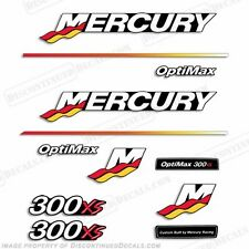 Mercury 300xs Optimax Racing Outboard Engine Decal Kit 2003 - 2004 300hp Decals