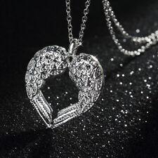New Fashion Women Girls Angel Wing Heart Pendant Necklace Gift UF