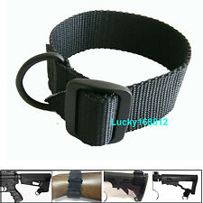 Universal Rifle Gun Shotgun Stock Single Point Sling Loop Adapter Strap W D Ring