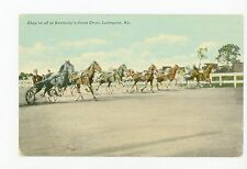 """They're Off"" Harness Horse Racing—Antique LEXINGTON Track 1910s"