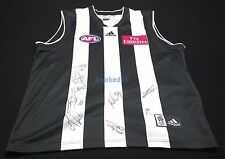 COLLINGWOOD Magpies Jersey Hand Signed x 9 Goldsack/Langdon/Toovey/Frost/Blair