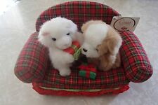 Russ Cat Dog Christmas Gifts Presents Red Plaid Couch Tag Attached VERY SWEET