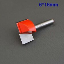 """2pcs 1/4"""" CNC Router Cleaning Bottom Wood Carving Tools Bits 6mm x16mm"""