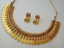 Indian Fashion Jewelry necklace set Bollywood ethnic Gold plated traditional set