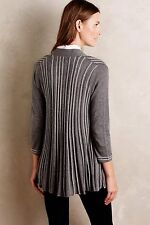 ANTHROPOLOGIE OPEN GREY CARDIGAN BY KNITTED ABD KNOTTED SMALL