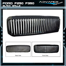 For: 99-04 Ford F250 F350 Excursion VERTICAL Grille Black Brand New 99-04