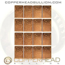 16 x 1oz Copper Bars (1 lb Pound) Element Design Bullion Ingots Cracker 5-10-20