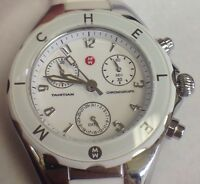 Michele Women's Tahitian Jelly Bean White Dial Chronograph Watch MWW12D000001