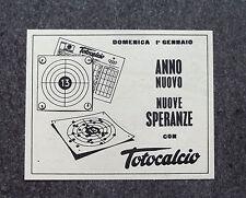 F602 - Advertising Pubblicità - 1961 - TOTOCALCIO , ANNO NUOVO NUOVE SPERANZE