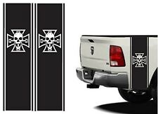 Rear Bed Stripes bones kit Iron Cross Skull for Ford raptor Dodge ram Chevrolet