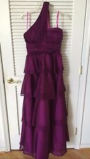 JESSICA SIMPSON PURPLE SPARKLE ONE SHOULDER BALL GOWN EVENING DRESS SIZE 7