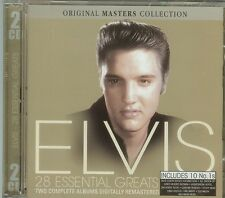 ELVIS - 28 ESSENTIAL GREATS - ORIGINAL MASTERS COLLECTION - 2 CDS - NEW