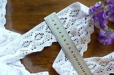 Cluny Cotton Lace WHITE - 50mm wide 1.7 Metre Lengths - Edged Aft263 Sunrise