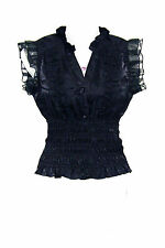 LIVING DEAD SOULS black gothic top - Victorian Vamp Governess blouse small or XS