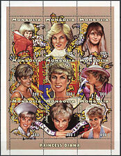 Mongolia 1997 Diana Princess Of Wales MNH Sheet #D2393
