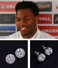 Men's/Boy's:  STURRIDGE 18ct White Gold Plate Cubic Zirconia Crystal Earrings