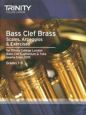 Trinity College Bass Clef Scales & Exercises from 2015 - Same Day P+P