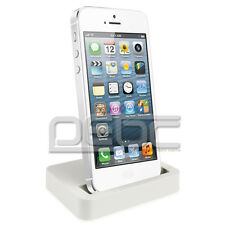 For Apple iPhone 5S 5C Charger Desktop Docking Station Cradle Charging White DJ