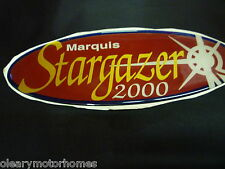 AUTOCRUISE MOTORHOME CAMPER STICKER DECAL MARQUIS 2000  STARGAZER RAISED RESIN