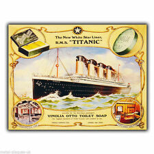 METAL SIGN WALL PLAQUE TITANIC Vinolia Soap - Travel poster art print picture