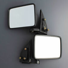 89 - 96 MITSUBISHI L200 TRITON MJ CYCLONE BLACK SIDE DOOR MIRROR PAIR